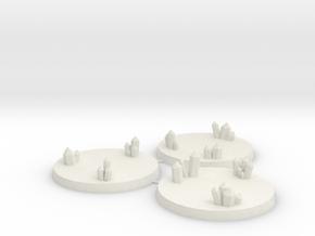 50mm Crystal Cluster Bases in White Natural Versatile Plastic