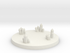 60mm Crystal Cluster Base - Style #2 in White Natural Versatile Plastic