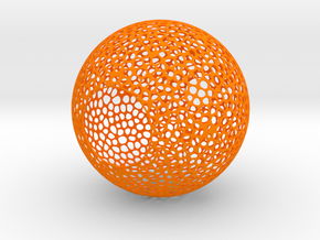 Lampshade (Sphere Vero 3) in Orange Processed Versatile Plastic