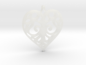 Heart Pendant Tiffanys Enchant Style in Smooth Fine Detail Plastic