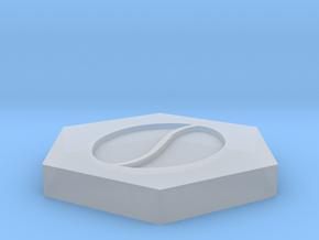 D2 - Coffee Bean Symbol Logo in Smoothest Fine Detail Plastic
