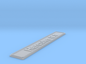 Nameplate Hercules C.1 in Smoothest Fine Detail Plastic