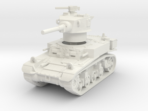 M3A1 Stuart late 1/87 in White Natural Versatile Plastic