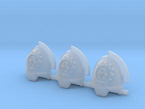 Steel Handed Warriors 3rd clan Gravus pads x3 #3 R in Smooth Fine Detail Plastic