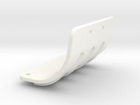 NIX63111 Motor mount brace for RC10 Graphite in White Processed Versatile Plastic
