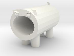 Big mouth cat pen holder in White Natural Versatile Plastic: Medium