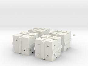 Interactive 3D Puzzle in White Natural Versatile Plastic