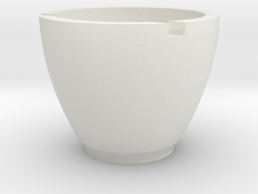 Pudding Bowl in White Natural Versatile Plastic