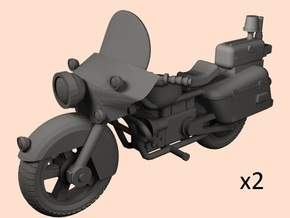 28mm Police motorcycle x2 in Smooth Fine Detail Plastic