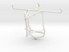 Controller mount for PS4 & Xiaomi Poco C3 - Top in White Natural Versatile Plastic