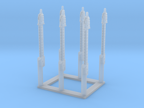 Universal Modular Mast, 1/144 scale in Smooth Fine Detail Plastic