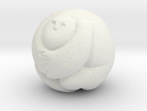Round Man 25 Mm in White Natural Versatile Plastic