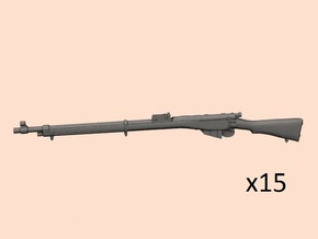 1/24 Lee Enfield Mk1 rifle in Smooth Fine Detail Plastic