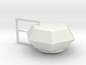 Turm für Pz.Kfw. IV Ostwind - 1:31 in White Natural Versatile Plastic
