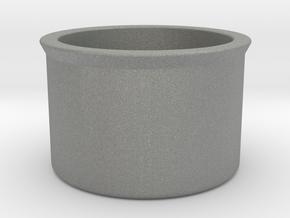 """01: Cover-37 """"blank"""", inner diameter 37 mm in Gray PA12"""