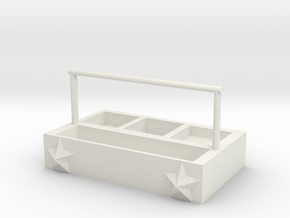 Portable storage box in White Natural Versatile Plastic