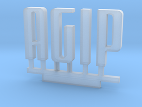 Z Scale Agip Logo 1:220 in Smooth Fine Detail Plastic