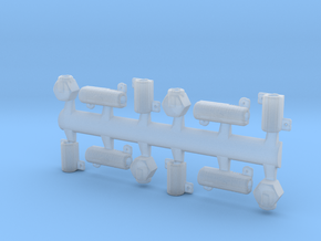 Eaglemoss Ecto-1 GB Proton Pack Hose Connectors in Smooth Fine Detail Plastic