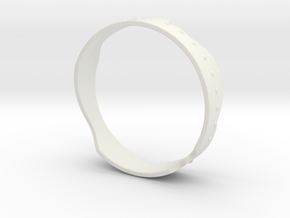 The Galaxy ring in White Natural Versatile Plastic: Medium