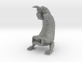 Clawhead 65mm kaiju miniature model fantasy dnd in Gray PA12