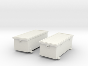1/16 USN Pt Boat 109 Engine Room Ammo Box SET in White Natural Versatile Plastic