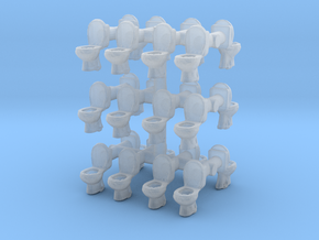Toilet WC (x24) 1/220 in Smooth Fine Detail Plastic