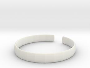 wristband in White Natural Versatile Plastic