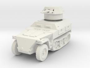 Sdkfz 250/9 B 2cm (closed) 1/100 in White Natural Versatile Plastic