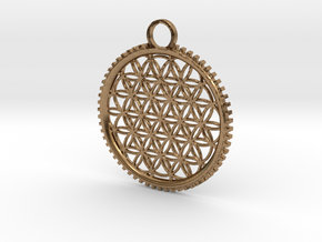 Tree of Life Pendant in Natural Brass