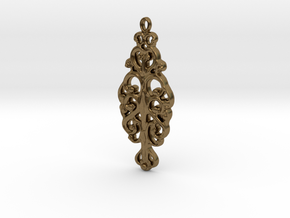 Ornamental Pendant in Natural Bronze
