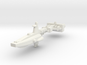 Hyperion Class Assault Cruiser in White Natural Versatile Plastic