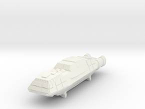 "BSG Freighter ""Guppy"" in White Natural Versatile Plastic"
