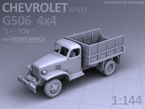 1/144 - Chevrolet G506 4x4 Truck (front-winch) in Smooth Fine Detail Plastic