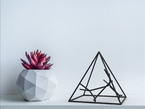 Naked Pyramid Sculpture in Black Natural Versatile Plastic