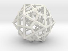 Nested Platonic Solids 60 mm in White Natural Versatile Plastic