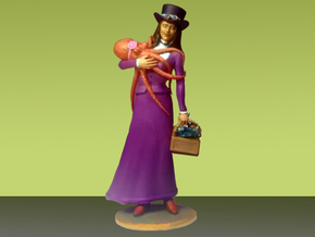 Steampunk Lady - Fine Detail in Smooth Fine Detail Plastic