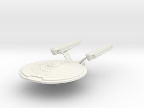 "Leonov Class Refit  Cruiser  4.5"" long in White Natural Versatile Plastic"