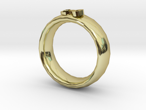 Double Fish Ring in 18k Gold Plated Brass