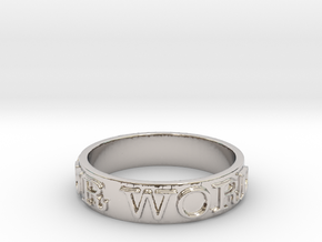 Be Your Word (Size 7) in Platinum
