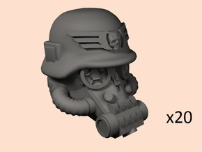 28mm SciFi German-style heads in Smoothest Fine Detail Plastic