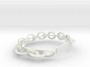 Initial chain in White Natural Versatile Plastic