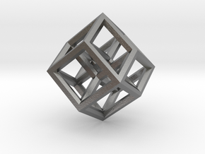 Hypercube Pendant in Natural Silver