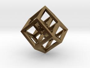 Hypercube Pendant in Natural Bronze