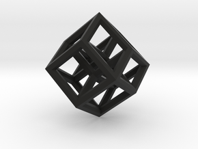 Hypercube Pendant in Black Strong & Flexible