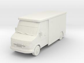 Mercedes Armored Truck 1/64 in White Natural Versatile Plastic