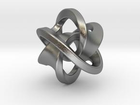 Soliton Pendant in Natural Silver: Small