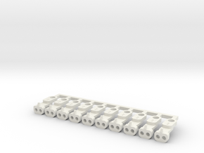 Magno-Electro Couplings for Tillig (Medium) x10 in White Natural Versatile Plastic