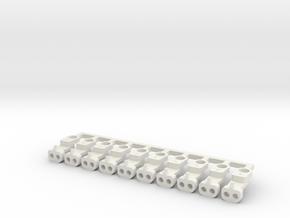 Magno-Electro Couplings for Tillig (Short x10) in White Natural Versatile Plastic