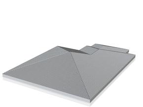 Pent Roof_200 in White Natural Versatile Plastic
