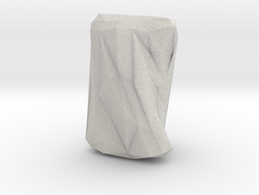 """Crumpled Paper"" Vase in Full Color Sandstone"